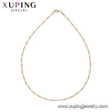 44186 xuping vogue 18 k colar de ouro banhado definir projetos cadeias simples colar sem pedra