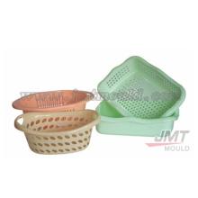 plástico do molde de injeção plástica cesta