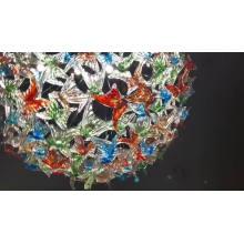Lampe à suspension en cristal d'art de salle d'exposition personnalisée