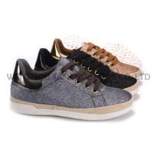 Zapatos de mujer ocio PU zapatos con suela de cuerda Snc-55007