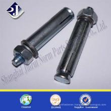 zinc blue -white plated anchor bolt