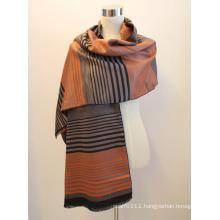 Lady Fashion Viscose Woven Jacquard Fringed Shawl (YKY4416-1)