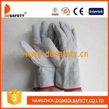 mit natürlicher Farbe Split verstärkt auf Palm und Daumen Handschuh (DLW600)