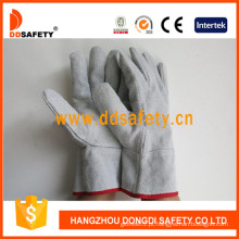 com cor natural dividida reforçada na palma da mão e polegar luva (DLW600)