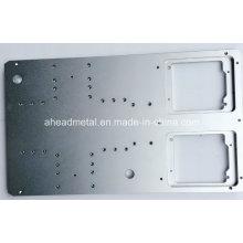 Gran aluminio plateado utilizado para máquinas CNC mecanizado de pieza de alta precisión