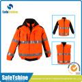High quality Reflective Green/orange safety jacket