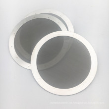 Reutilizable fino disco de malla de filtro de café de acero inoxidable de 60 micrones