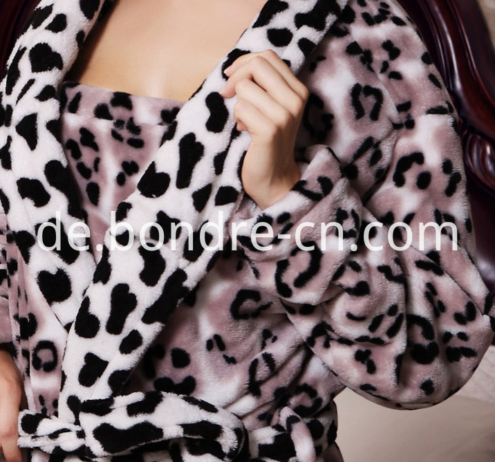 Women Flannel Bathrobe BP21-08 02