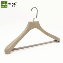 Colgadores de ropa de marca de madera de lujo personalizados