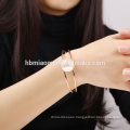 New selling trendy style vintage statement women rose gold bracelet
