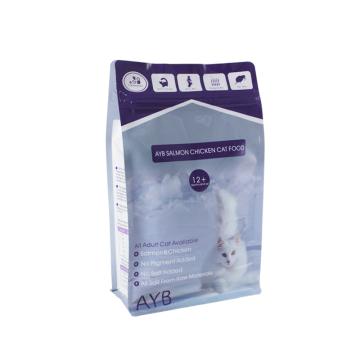 Bolsa de empaque de alimentos para mascotas con cremallera fácil de rasgar