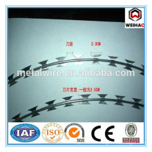 Hot dipped galvanized raozr barbed wire