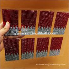 Autocollants acryliques en feuille de strass