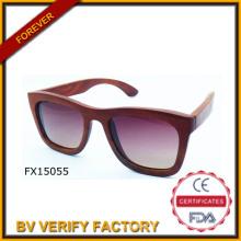 Óculos de madeira de moda 2015 vermelho nobre (FX15055)