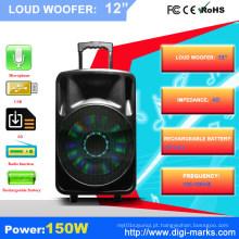 O profissional 15 avança o orador exterior plástico do PA com função de Bluetooth