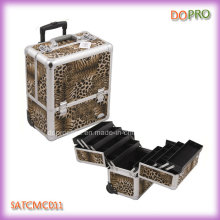 Leopard Printing Decent Rolling Makeup Case (SATCMC011)
