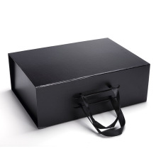 フルブラック女性のハンドバッグ包装折りたたみギフトボックス