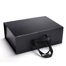 Full Black Women's Handbag Packaging Collapsible Gift Box