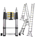 16 Step Aluminum Telescopic Telescoping Collapsible Loft Ladder Extension Extendable Portable Tall Multi Purpose Ladder