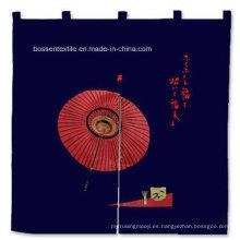 Fabricante de cortina de puerta de 87 * 94 cm de diseño japonés de algodón decorativo para uso doméstico personalizado