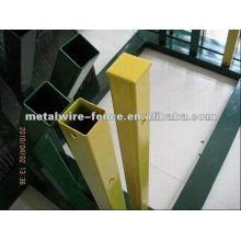 Verde, usado, metal, cerca, poste