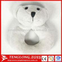 Китай оптовая белый медведь звук лачуга мягкая игрушка ребенка
