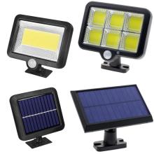 Luz solar Lâmpada solar ao ar livre PIR Sensor de movimento Refletor movido a energia solar Luz solar rua luz 4M fio à prova d'água