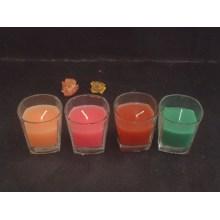 Красочные прозрачные стеклянные обету свечи