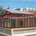Aluminium Glass Sunroom with Skylight Roof Windows
