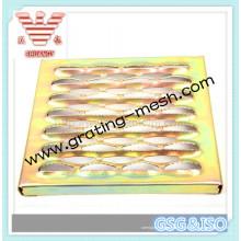 Pisadas de escalera de metal perforado / Placa antideslizante