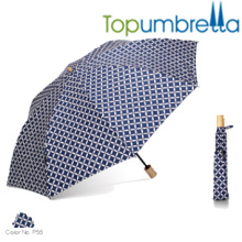 Nova chegada grande manual aberto dois guarda-chuvas de luz dobrável Nova chegada grande manual aberto dois guarda-chuvas de luz dobrável