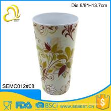 produtos de utensílios de mesa por atacado de melamina copo de café reutilizável de plástico