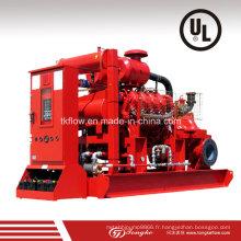 Pompe à moteur diesel Pompe à eau de lutte contre l'incendie (UL)