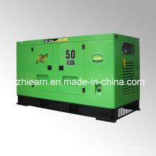 Tipo silencioso de generador diesel refrigerado por agua (GF2-50kVA)
