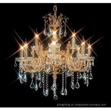 Iluminação de cristal do candelabro da projeção da decoração (MD96016-8 + 4)