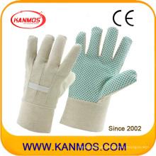 Double Palmed White Bohrer Stoff zurück PVC Dots Garten Arbeitssicherheit Arbeit Baumwolle Handschuhe (41008)