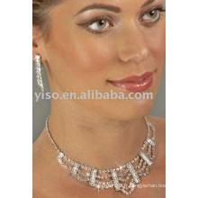 Ensemble bijoux en strass en strass
