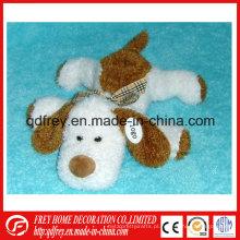 Brinquedo macio do cão do luxuoso do Natal da venda quente