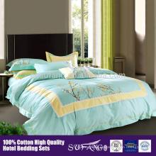 Preço de fábrica de cinco estrelas qualidade colcha conjunto de algodão de luxo quilt para o hotel