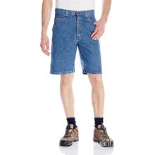 Short in cotone denim casual da uomo