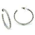 Joyería de buena calidad para la señora 3A CZ 925 pendiente de plata (E6501)