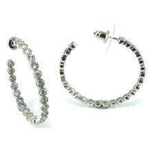 Bijoux de bonne qualité pour la boucle d'oreille en argent sterling de princesse 3A CZ 925 (E6501)