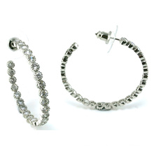 Good Quality Jewelry for Lady 3A CZ 925 Silver Earring (E6501)