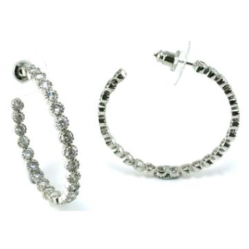 Jóias de boa qualidade para a senhora 3A CZ 925 brinco de prata (E6501)
