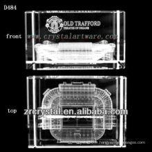 Image subsurface de laser de K9 à l'intérieur du bloc de cristal