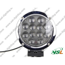 7inch 5100lm Round 12PCS X 5W CREE LED Black/Silver Housing Spot Flood 60W CREE Work Offroad Driving Fog Head Light 12V24V for 4X4 Jeep SUV Auto