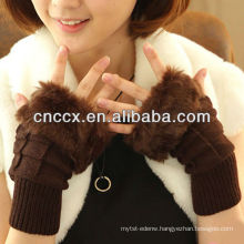 PK17ST317 fashion ladies' winter knitted half hand gloves