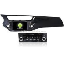 Quad core! Dvd do carro com link espelho / DVR / TPMS / OBD2 para 7 polegada tela sensível ao toque quad core 4.4 sistema Android Citroen C3