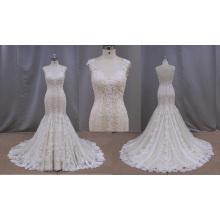 Vestido de novia de sirena con cuentas blusa 2014