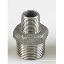 Conexiones de tubería de acero inoxidable: pezones hexagonales reductores